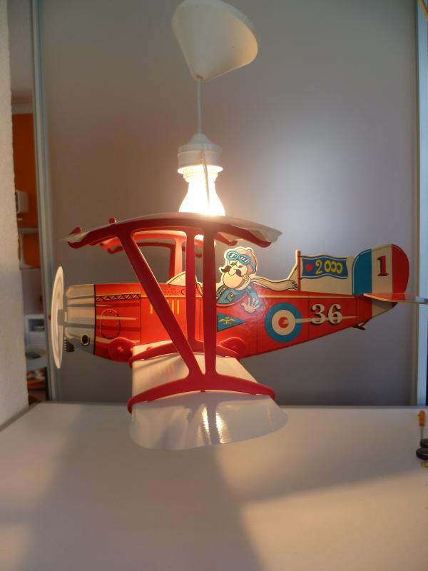 originelle Kinderzimmerlampe Doppeldecker rot/weiß made in Italy ...